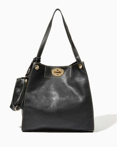 charming charlie | Slouchy Standard Faux Leather Tote | UPC: 400000473086 #charmingcharlie