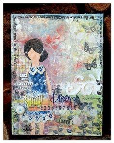 she- Art journal entry by Charlotte Walker
