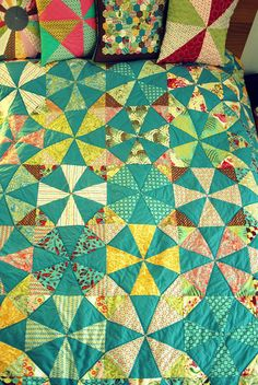 I'd love to make a kaleidoscope quilt one day! This Tula Pink one is stunning.  /////  Finished Kaleidoscope Quilt by berlinquilter, via Flickr