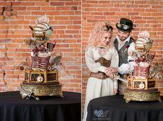 Steampunk Victorian Cake. Steampunk Wedding Cake. Steampunk Cake. Octopus Cake. Victorian Cake. Wedding Planning. Themed Wedding. Trendy Weddings. Wedding Trends. Tiered Wedding Cake. Wedding Dreams.