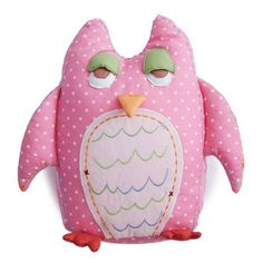 Baby Owl Shaped Pillow-Pink|Fab Style Kids Rooms http://fabstylekidsrooms.com/Art-and-Decor/Pillows/Baby-Owl-Shaped-Pillow-Pink #pillow #owl #pink #babygirl