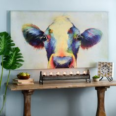 Show your wild side with any of our vibrant art pieces featuring animals! You can be the belle of the barnyard or the queen of the jungle with these playful pieces!