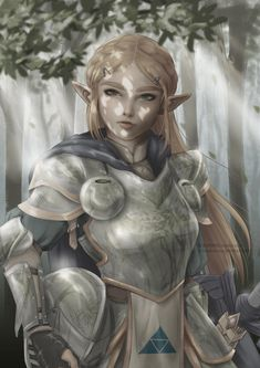 KUMANZ ART — Armored Zelda~ I wanted to paint her breath of the...