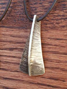 Handmade sterling silver fold formed by LeGrandMetalsmithing