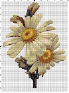 Daisies  Vintage Cross Stitch Patterns  by SnarkyArtCompany