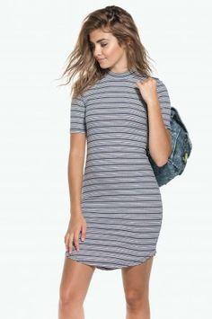 Ribbed mock neck dress Mock Neck, Shirt Dress, Casual, Shirts, Shopping, Dresses, Fashion, Vestidos, Moda