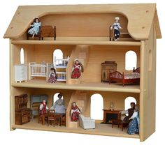 Seri's Wooden Toy Dollhouse traditional-kids-toys