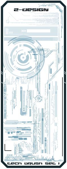 Z-DESIGN Tech Brush Set 1 by Z-DESIGN on deviantART