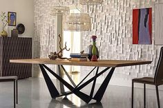 Buy the Skorpio Wood Dining Table by Cattelan Italia from our designer Tables collection at Chaplins - Showcasing the very best in modern design. Solid Wood Dining Table, Dinning Table, Wooden Tables, Design Furniture, Modern Furniture, Luxury Furniture, Moderne Lofts, Italian Furniture Stores, Table Haute
