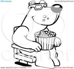 movie theater coloring pages