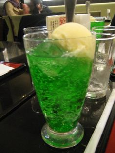 Crushed melon Fanta!  One of the things I miss most from Japan...