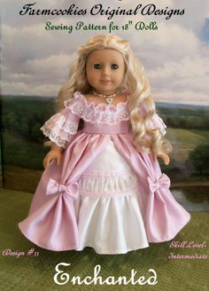 PRINTED Sewing Pattern for 18 American Girl Dolls / by Farmcookies