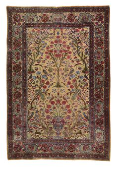 19ème Kashan (Iran) - tapis en soie