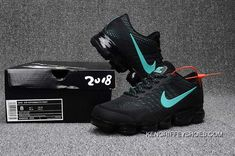 Cheap Nike Air Vapormax Flyknit Black Glacier Blue 2018 Online New Nike Air, Nike Air Vapormax, Nike Shoes Outfits, Nike Free Shoes, Top Running Shoes, Nike Under Armour, Nike Max, Discount Nikes, Hot Store