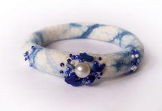 Felted Bangle Bracelet