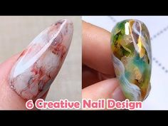 Want some creative nail design ideas? If you are a girl who likes nail art, you are so lucky today, today we collected 6 Creative Nail Design for you, hope y. Creative Nail Designs, Simple Nail Art Designs, Beautiful Nail Designs, Beautiful Nail Art, Easy Nail Art, Creative Nails, Creative Art, Work Nails, Nail Art Techniques