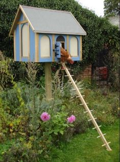 Chicken Paradise (&fox proof too)! Think I'll have Babs help me make a couple of these to put around the yard
