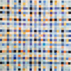 Antonio Asis, Untitled from the series 'Chromatisme Quadrillé Polychrome', 1966 [Sicardi Geometric Artists, Dairy Queen, Gcse Art, Modern Artists, Geometry, Quilts, Houston Tx, Design, Patterns