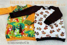 "Mamahoch2: ""Autumn Rockers"" Raglan Pullover + Anleitung"