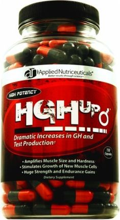 Applied Nutriceuticals HGH-UP contains ingredients that have been shown to help stimulate natural growth hormone secretion and support male reproductive health with the goal of optimizing the environment to support human growth hormone levels.