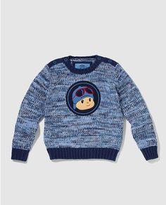 Jersey de niño Personajes en azul con Pocoyo