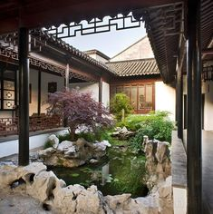 Very appealing with the enclosured feeling and yet the vastness of nature is represented. The old Suzhou Museum, a former palace