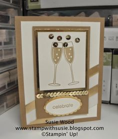 Stampin' Up!- HAPPY NEW YEAR created with 'Embellished Events' and gold accents!