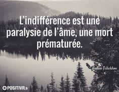 citation sur l'indifférence