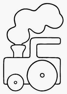 Quiet Book: Easy pattern for a train Applique Templates, Applique Patterns, Applique Designs, Quilt Patterns, Embroidery Designs, Patchwork Quilting, Applique Quilts, Embroidery Applique, Quiet Book Templates