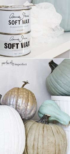 11 Ideas for Pretty Pumpkins • Tutorials and Ideas! Including, from 'perfectly imperfect', find out how to paint pretty pumpkins.