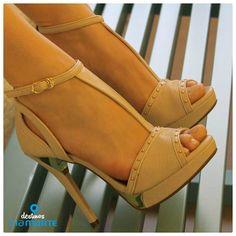 salto alto - nude - party shoes - fashion - heels - Ref. 14-19003 - Alto Verão 2015