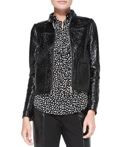 Fae Faux-Leather Jacket/Vest by Tory Burch at Neiman Marcus.