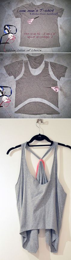 Tie-Back Tank Top | 31 T-Shirt DIYs That Are Perfect For Summer