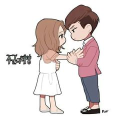 The Master sun Good Morning Cartoon, Gong Hyo Jin, Master's Sun, Cartoon N, Korean Stickers, So Ji Sub, Running Man, Anime Chibi, Kpop