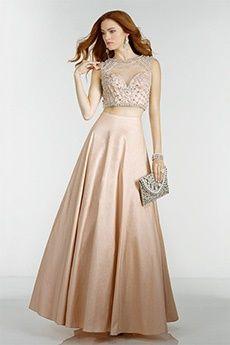 Ball Gown Jewel Floor-length Taffeta Prom Dress