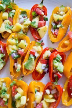 sweet mini peppers, stuffed peppers, stuffed sweet mini peppers, brazilian appetizers, world cup food, word cup eats, vegan, healthy snacks,