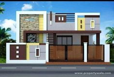 39 Trendy Ideas For House Front Design Indian Small - Cerato House Front Wall Design, House Balcony Design, House Outer Design, Single Floor House Design, Modern Small House Design, House Outside Design, Village House Design, Kerala House Design, Bungalow House Design