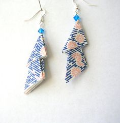 Origami Earrings  Triple Triangle Paper by PaperImaginations, $12.50
