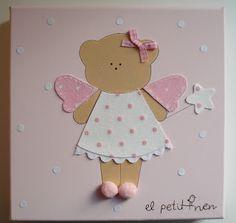 "Cuadros infantiles: ""el petit nen"" Ideas Geniales, Art Projects, Scrap, Baby Boy, Canvas, Boys, Cute, Handmade, Girl Rooms"