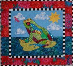 BJ Designs & Patterns Freddie Frog Applique Quilt Pattern