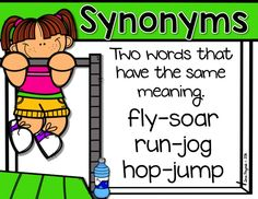ON SALE 6/30-7/1: Synonym and Antonym Gym- task cards and differentiated recording sheets