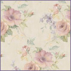 PRETTY FLORAL SEAMLESS TEXTURE - FREE PNG PSD PSP TUBES from Pewter7