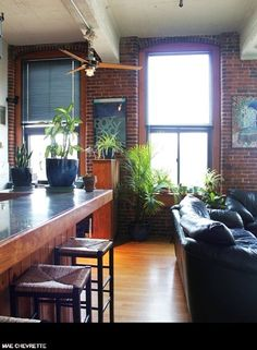 Mae & Mike's Renovated Factory Loft via Apartment Therapy