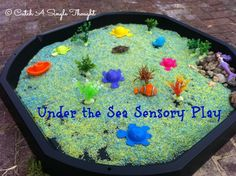 Sensory play idea for underwater themes