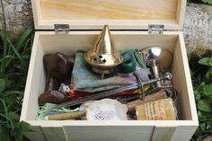 Complete portable pagan altar kit, duluxe travel altar in a box, large travel altar chest, wiccan ritual tools, *mature content*