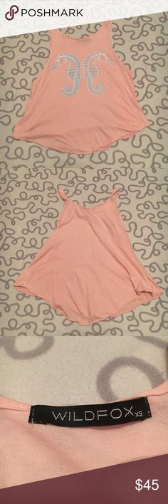 Wildfox Seahorse Swing Tank Perfect condition. No rips, tears, or stains. Wildfox Tops Tank Tops