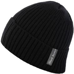 Novawo Winter Fluff Lined Beanie Hat Knit Skull Cap with Neck Warmer... ($11) ❤ liked on Polyvore featuring men's fashion, men's accessories, men's hats, mens caps and hats, mens beanie hats, mens knit beanie hats and mens knit hat