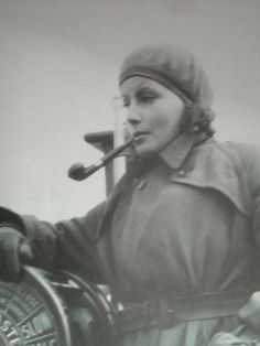 Greta Garbo smoking a pipe. You will never be this cool.