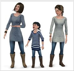 "Around the Sims 3 | Sims 4 to 3 - Clothes set | Cozy Afternoon GUUUUUUUYS!!!!!! I learnt how to make clothes for Sims 3!!!! Well, I should say ""I learnt how to convert clothes for Sims 3″, but it's..."