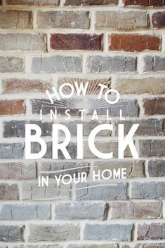 Faux Brick Veneer Wall • Vintage Revivals Thin Brick, Faux Brick, Half Brick, whatever they call it in your neck of the woods, brick veneer installed on a interior wall it can look like a million bucks. This post is a step by step guide on how to install a faux brick wall inside your home. #fauxbrick #accentwall